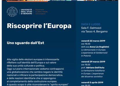 Tre incontri sull'Europa: 22, 29 marzo e 5 aprile